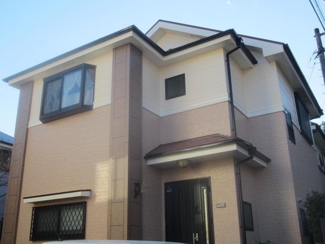 東村山市F様邸で外壁屋根の塗替え!